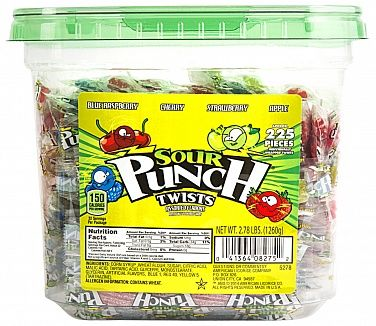 Sour Punch Assorted Twists x5 (US)