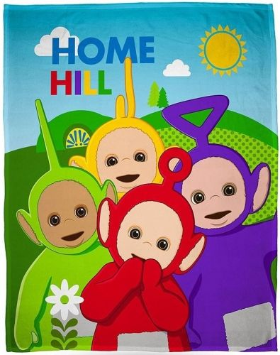 "Teletubbies ""Playtime"" Character Fleece Blanket Snuggle Throw"