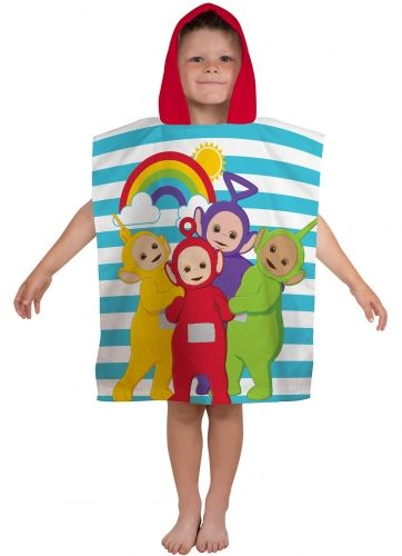"Teletubbies ""Playtime"" Character Hooded Towel Poncho"