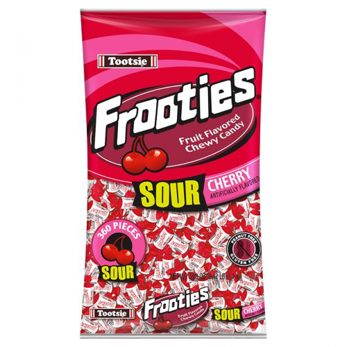 Tootsie Frooties Sour Cherry 360Pc Bag 38.8oz (1.1kg) ( US )