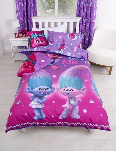 "Trolls Glow Poppy ""Reversible"" Single Duvet Cover Bedding Set"