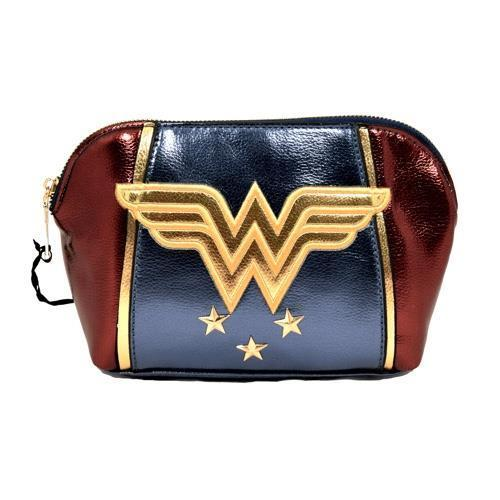 Wonder Woman - Shield Wash Bag / Make Up - New & Official DC Comics